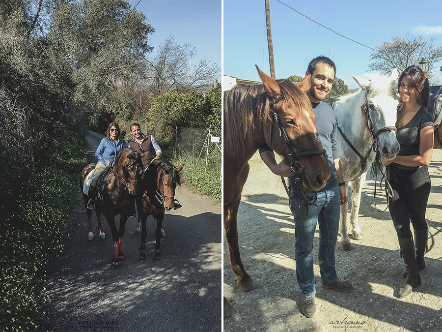 Realizamos paseos con amigos a caballo